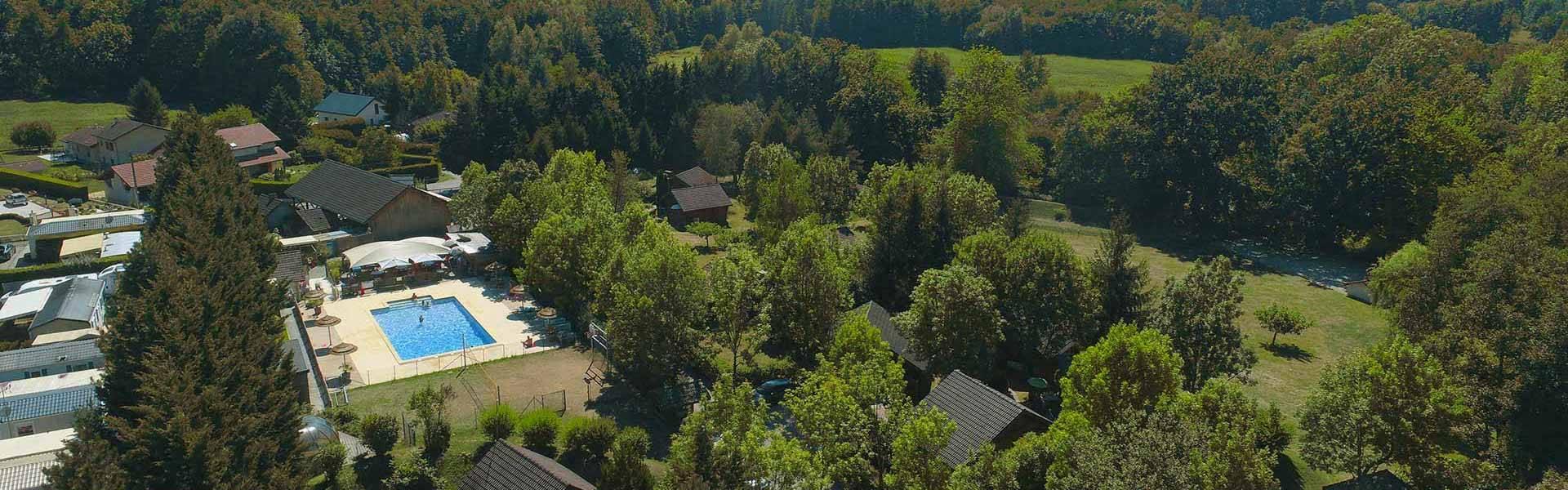 vue aerienne camping de vaulnaveys le bas